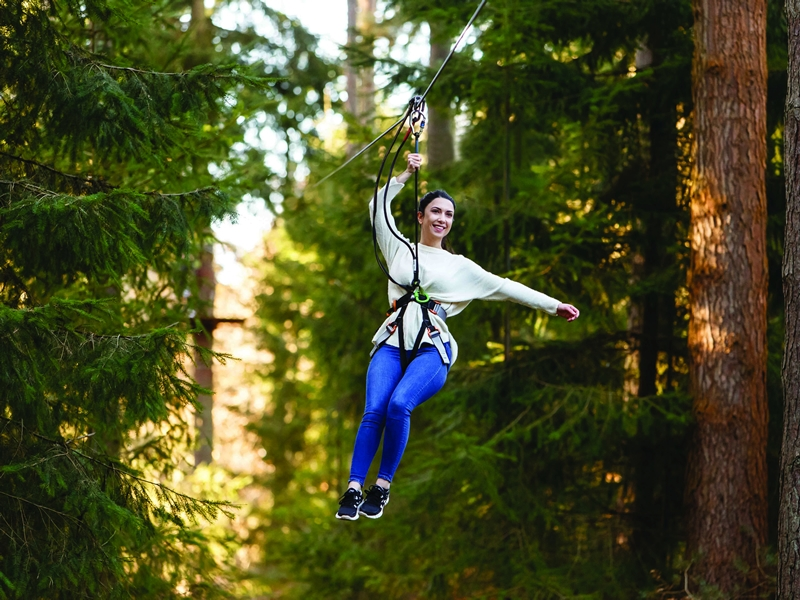 Swing into Spring at Go Ape in Scotland