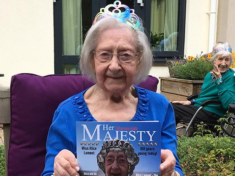 A great sense of humour is the secret to a long life according to Edinburgh resident