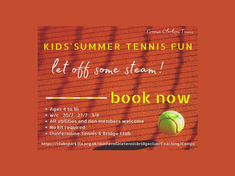Summer Tennis Fun in Kirkcaldy