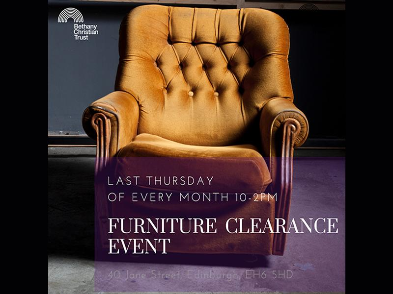 The Bethany Furniture Clearance Event - Postponed