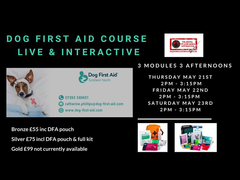 Dog First Aid - 3 modules, 3 afternoons