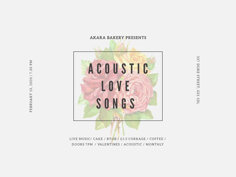Acoustic Love Songs - Free Valentine's Concert