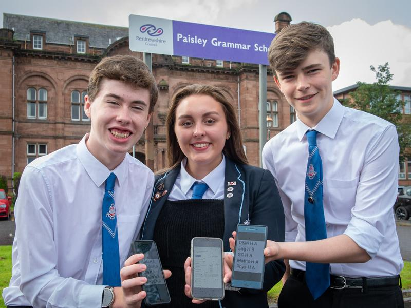 Ambitious Renfrewshire pupils gain an A rating in exam results