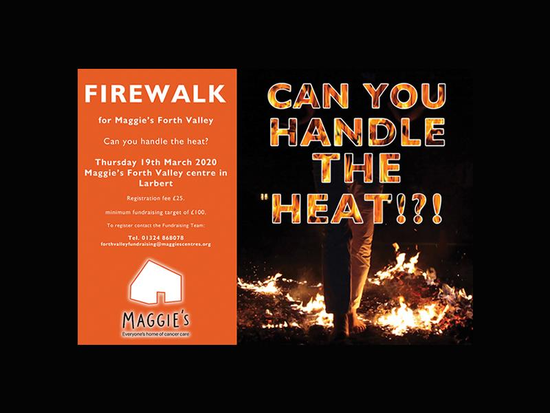 Maggie's Forth Valley: Firewalk