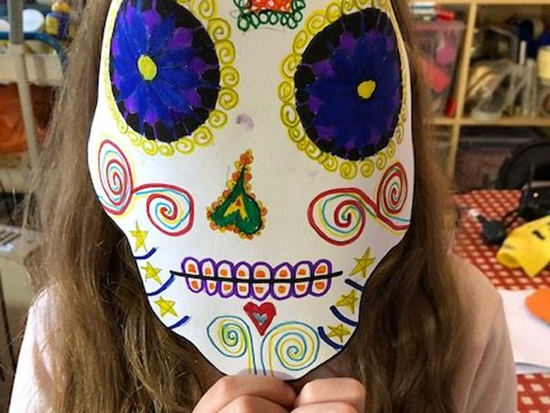 Kids Day of The Dead Printmaking Workshop
