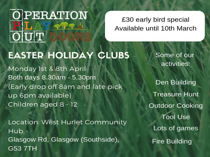Operation Play Outdoors Easter Holiday Club