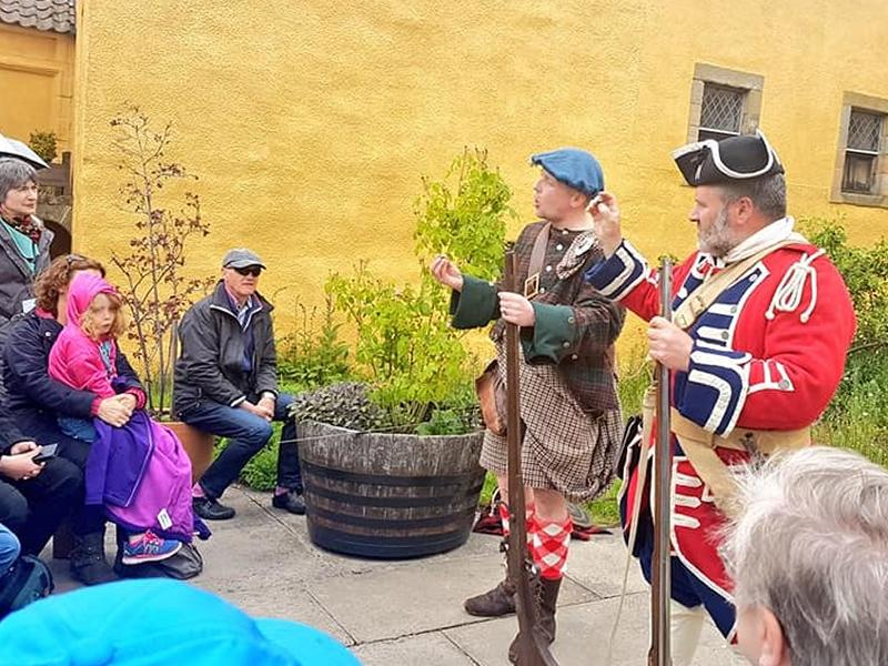 Jacobites and Redcoats at Culross Palace!