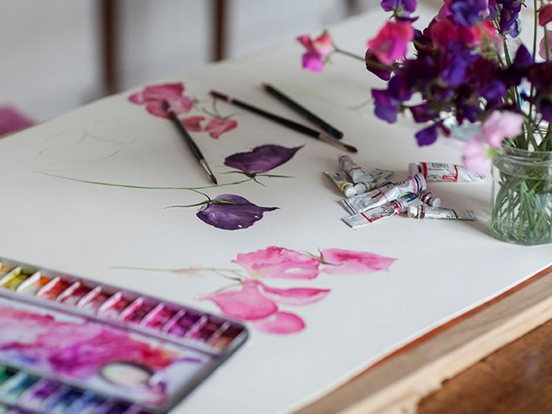 Watercolour Classes: Painting Seasonal Flowers and Foliage