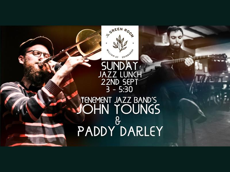 Green Room Jazz Lunch: Tenement Jazz Band's John Youngs and Paddy Darley