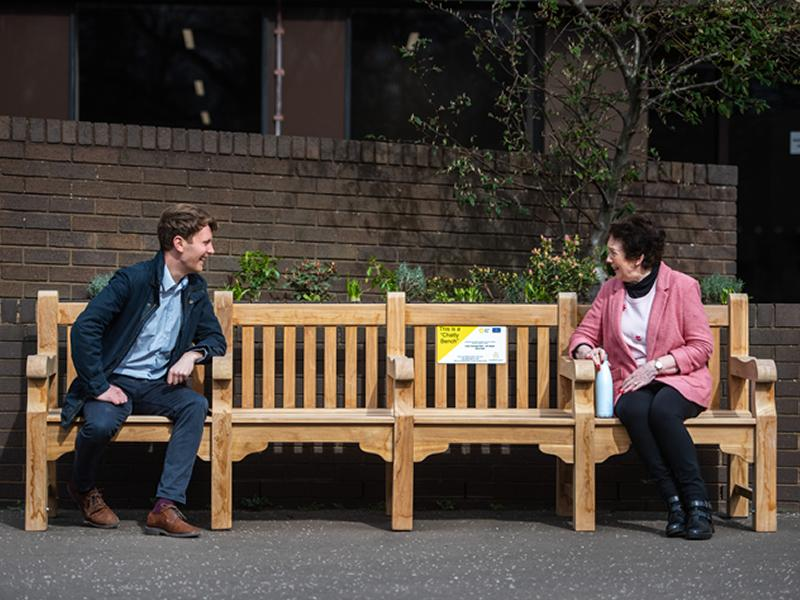 The first Chatty Bench is launched in Edinburgh