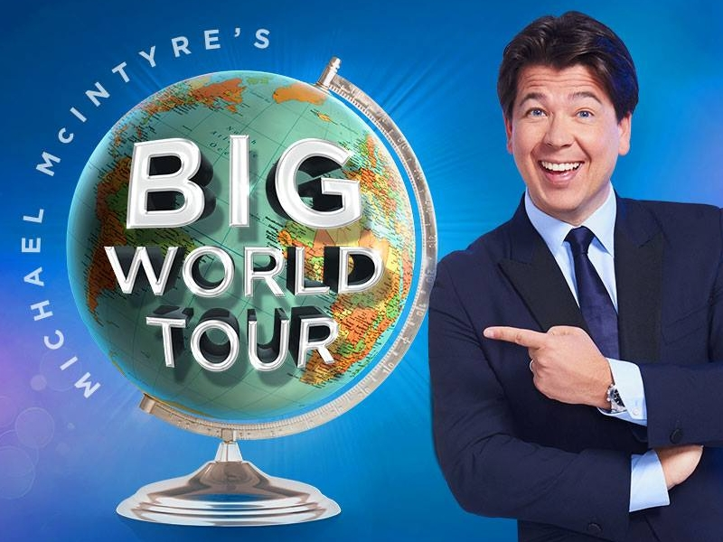 Just 3 weeks to go until Michael McIntyre brings his Big World Tour to Scotland