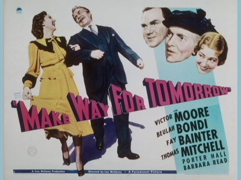 Make Way For Tomorrow - Special Screening