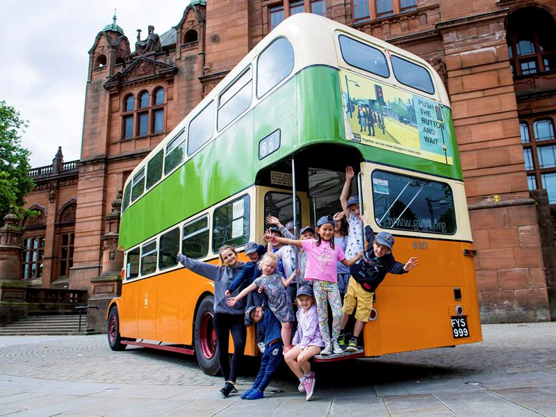 All aboard The Great Big Mackintosh Bus Tour!