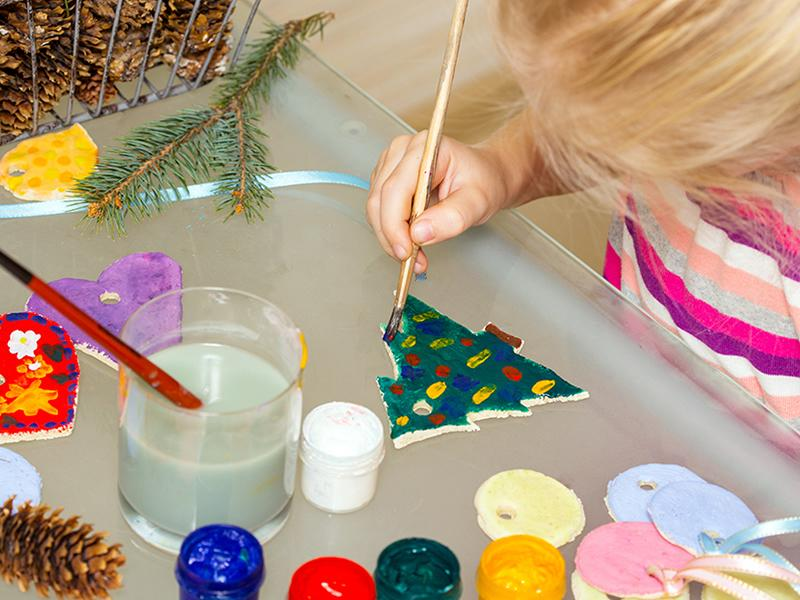 Kids' Paint Your Own Christmas Tree Decoration Workshop