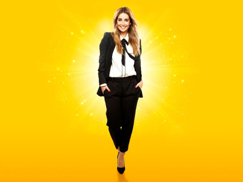 Louise Redknapp is working 9 to 5 this August