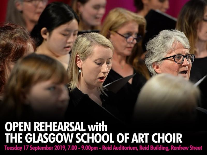 Open rehearsal with the Glasgow School of Art Choir