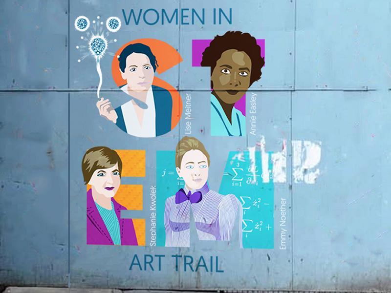 Women in STEM Street Art Trail