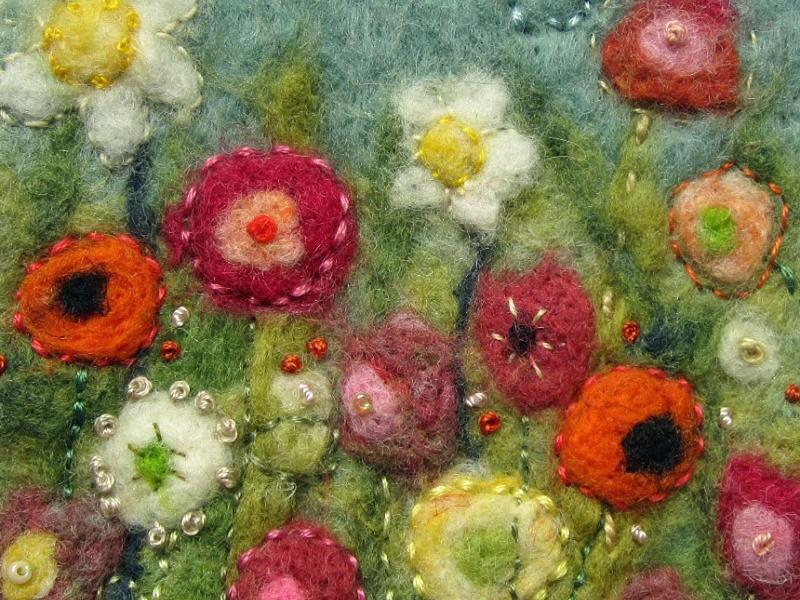 Textile Therapy: Needle Felted Pictures