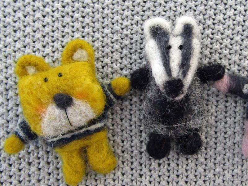 Needle Felting: Furry Friends Badges
