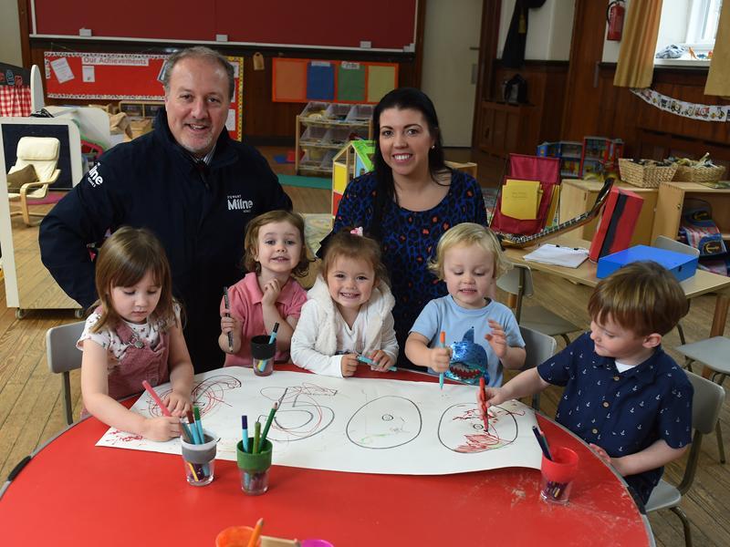 Stewart Milne Homes donate vital funds to local Carmunnock nursery