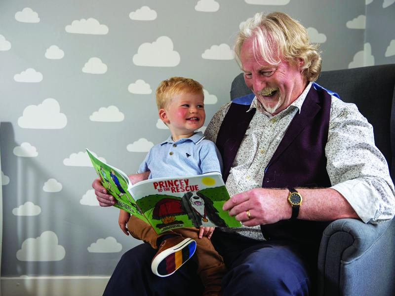 Princey the dog wags his tale after author inspired by grandson