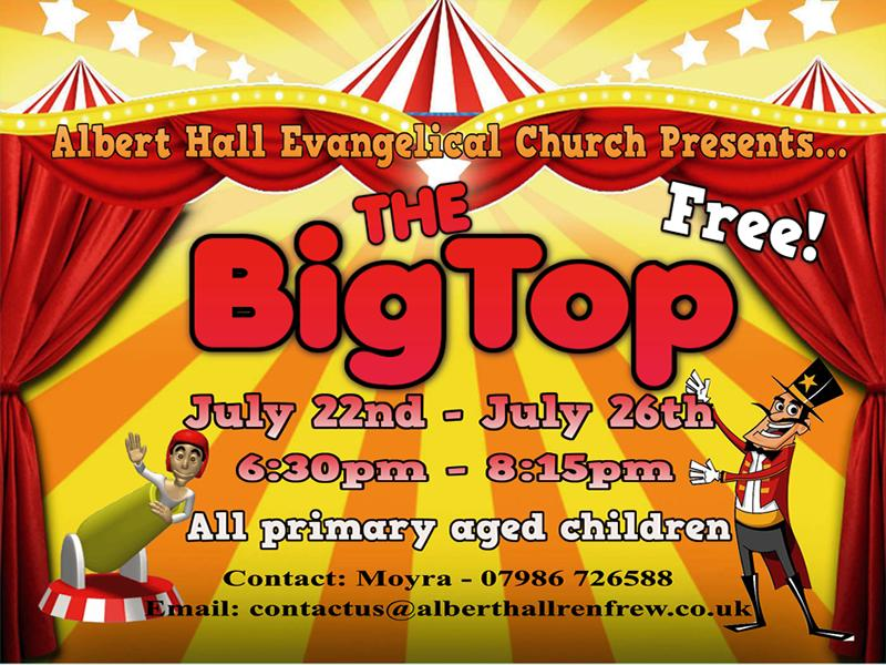Free Children's Holiday Club - The Big Top