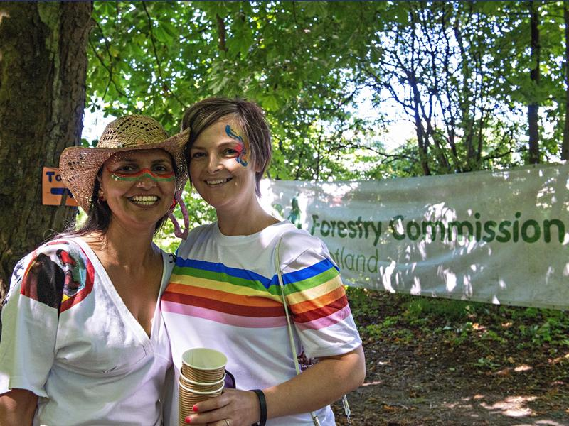 Forestry Commission Scotland celebrates Pride Outside in Auchenshuggle Woods
