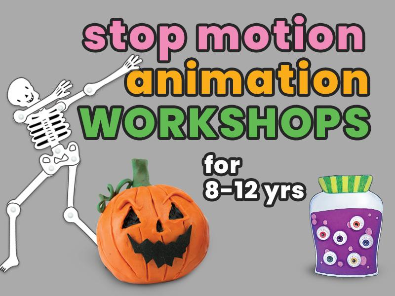 Stop Motion Animation Workshop for 8-12yrs: Halloween