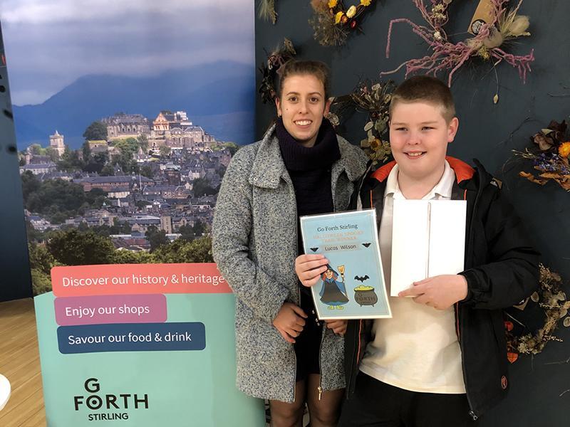 Stirling Schoolboy wins iPad in Halloween Contest
