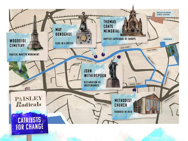 New walking tour will chart the role of Paisley in the Scottish Radical War of 1820