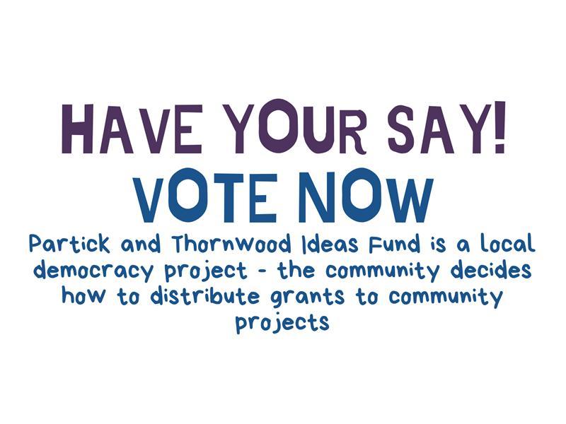 Partick and Thornwood Ideas Fund Vote