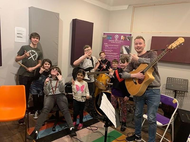 School of Rock and Pop at The Diane Mitchell Music School, Paisley