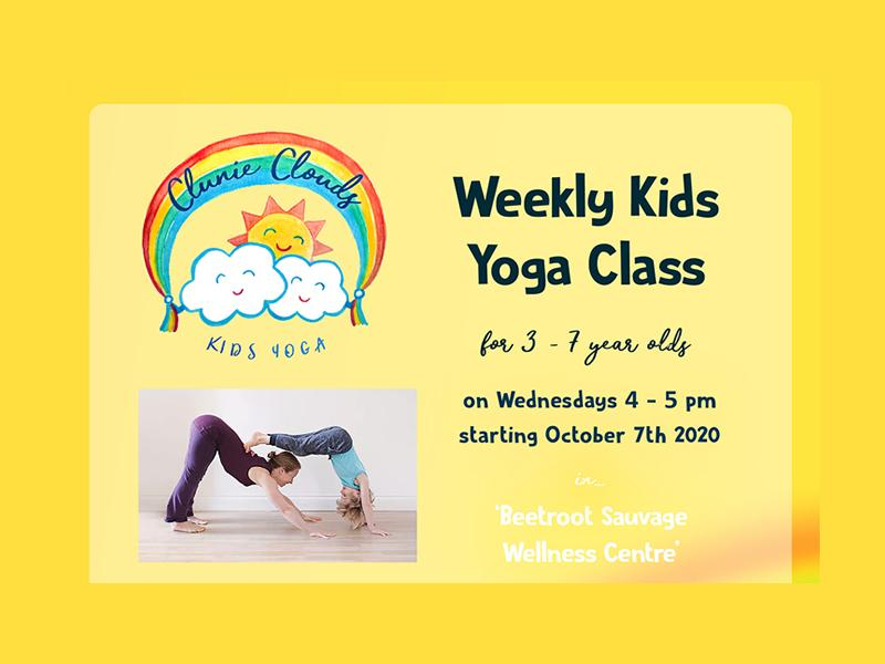 Weekly Kids Yoga for 3 - 7 year olds