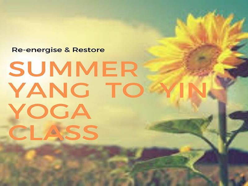 Online Summer Yang to Yin Yoga Class
