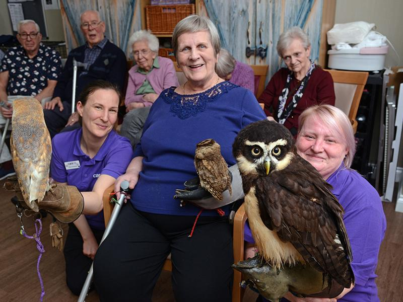 Edinburgh care homes residents take birdwatch weekend to the nest level