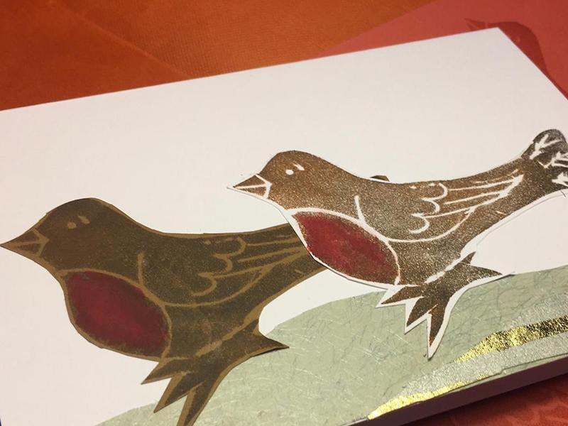 Printmaking for Christmas