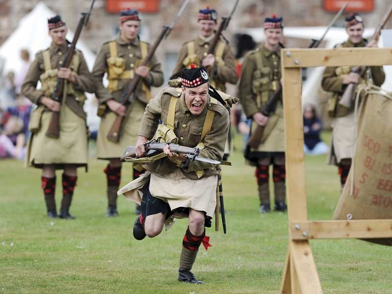 Rock through the ages at Dumbarton Castle