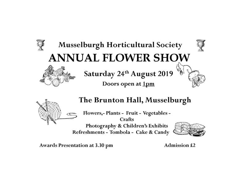 Musselburgh Horticultural Society Flower Show