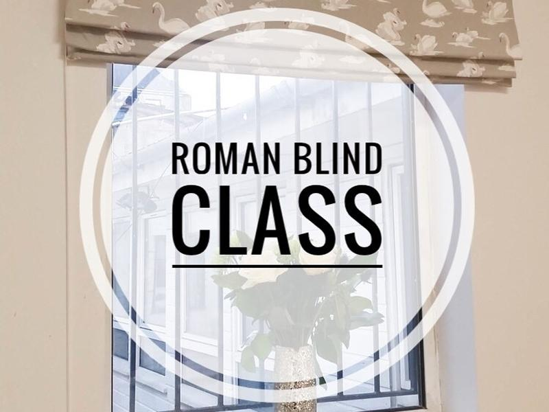 1 Day Roman Blind Making Class