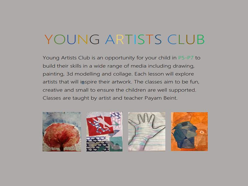 Young Artists Art Club P5-P7