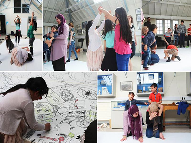 Refugee families to unveil an exhibition of their artwork
