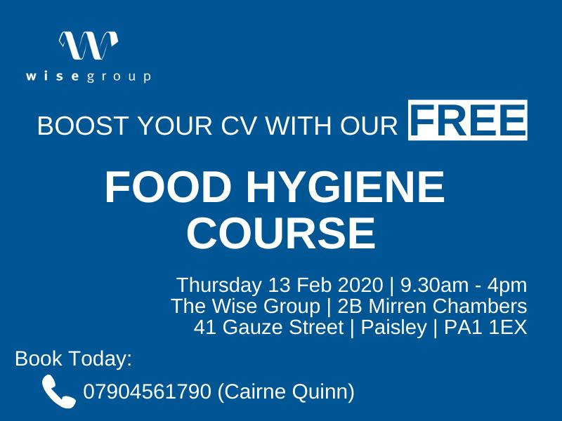 Boost your CV with our FREE Food Hygiene Course