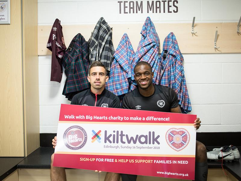 Football Stars call on Scots to add to the money raised by Kiltwalkers