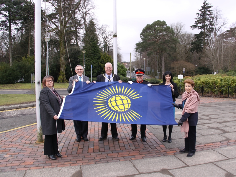 Provost raises the flag for Commonwealth Day