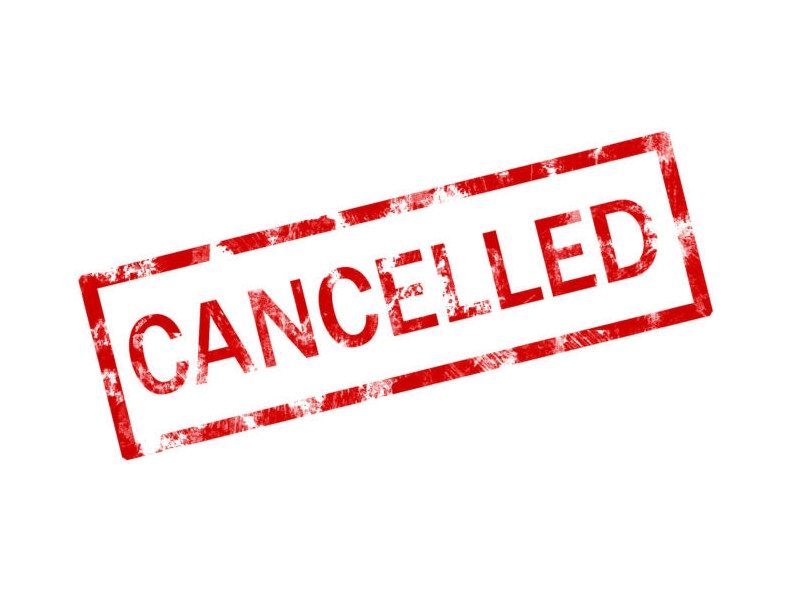 Event Cancellations due to adverse weather