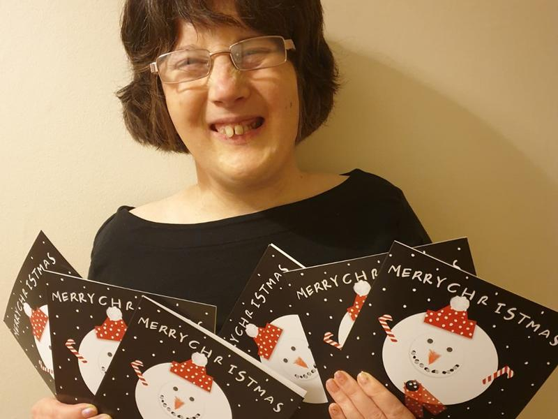 Quarriers unveil Christmas cards designed by people supported by the social care charity