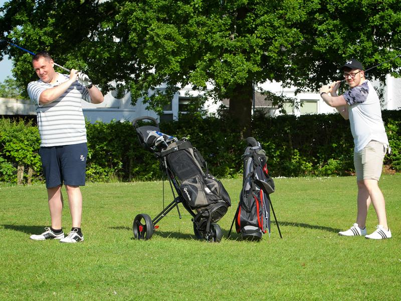 First Golfers at Barshaw