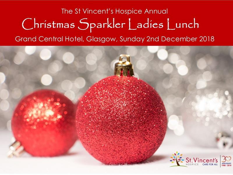 St Vincent's Hospice 'Christmas Sparkler' Ladies Lunch
