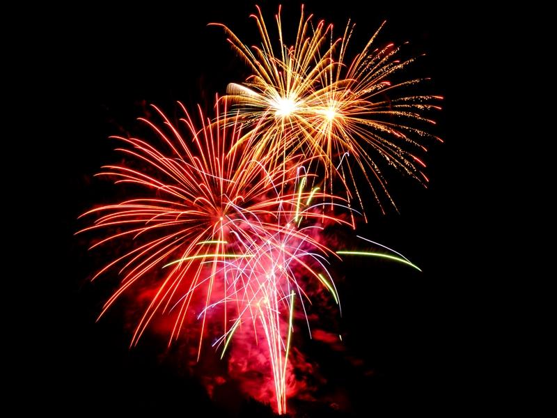Fireworks light up the Christmas season at Loch Lomond Shores