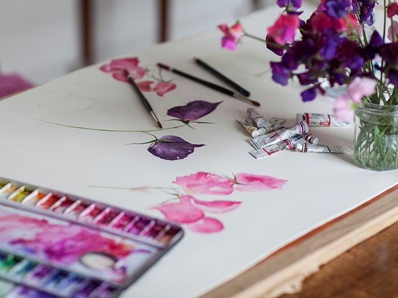 Watercolour Classes - Painting Seasonal Flowers